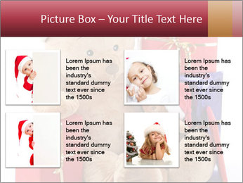 Christmas teddy bear with gifts PowerPoint Template - Slide 14