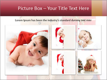 Christmas teddy bear with gifts PowerPoint Template - Slide 19