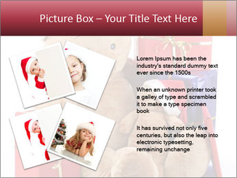 Christmas teddy bear with gifts PowerPoint Template - Slide 23