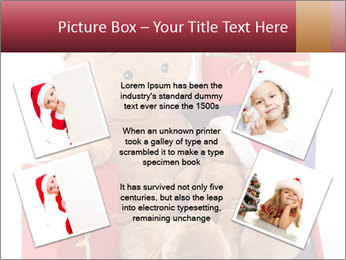 Christmas teddy bear with gifts PowerPoint Template - Slide 24