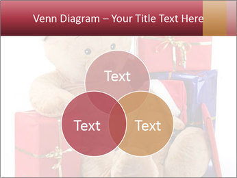 Christmas teddy bear with gifts PowerPoint Template - Slide 33