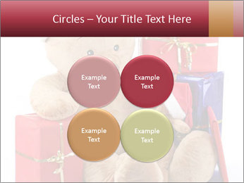 Christmas teddy bear with gifts PowerPoint Template - Slide 38