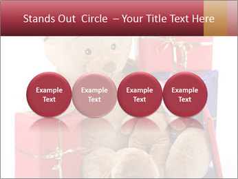 Christmas teddy bear with gifts PowerPoint Template - Slide 76