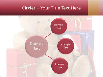 Christmas teddy bear with gifts PowerPoint Templates - Slide 79