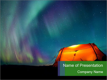 Polar Lights PowerPoint Template