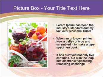 Sweet quince jam in glass dish with spoon PowerPoint Template - Slide 13