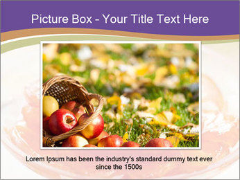 Sweet quince jam in glass dish with spoon PowerPoint Template - Slide 15