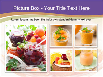 Sweet quince jam in glass dish with spoon PowerPoint Template - Slide 19