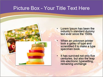 Sweet quince jam in glass dish with spoon PowerPoint Template - Slide 20