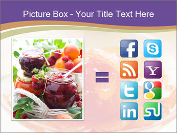 Sweet quince jam in glass dish with spoon PowerPoint Template - Slide 21