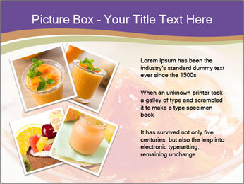 Sweet quince jam in glass dish with spoon PowerPoint Template - Slide 23