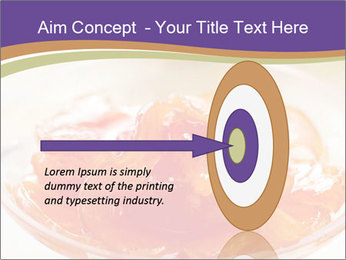 Sweet quince jam in glass dish with spoon PowerPoint Template - Slide 83