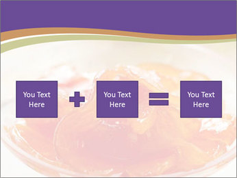 Sweet quince jam in glass dish with spoon PowerPoint Template - Slide 95
