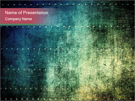 Rusty metal texture with rivets PowerPoint Template