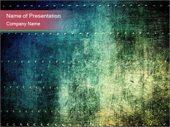 Rusty metal texture with rivets PowerPoint Template - Slide 1