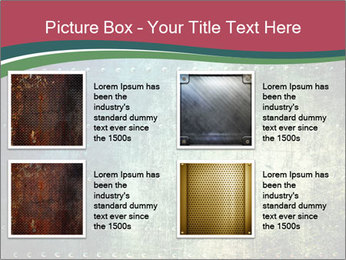 Rusty metal texture with rivets PowerPoint Template - Slide 14