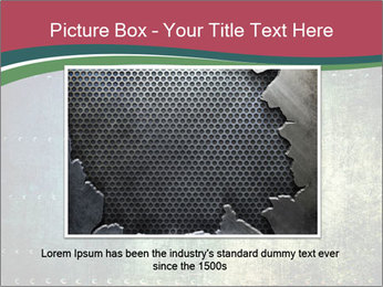 Rusty metal texture with rivets PowerPoint Template - Slide 15