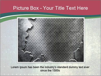 Rusty metal texture with rivets PowerPoint Template - Slide 16