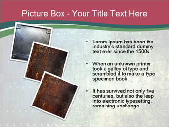 Rusty metal texture with rivets PowerPoint Template - Slide 17