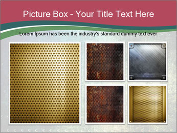 Rusty metal texture with rivets PowerPoint Template - Slide 19