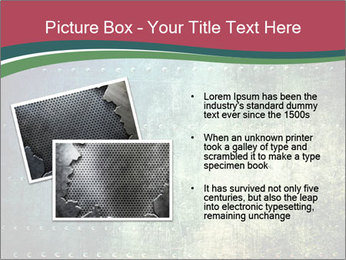 Rusty metal texture with rivets PowerPoint Template - Slide 20