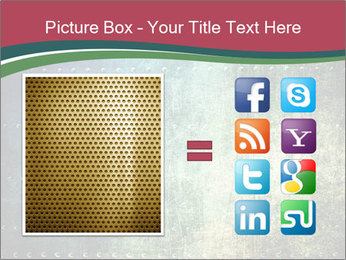 Rusty metal texture with rivets PowerPoint Template - Slide 21