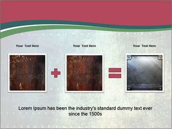 Rusty metal texture with rivets PowerPoint Template - Slide 22