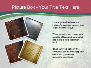 Rusty metal texture with rivets PowerPoint Template - Slide 23