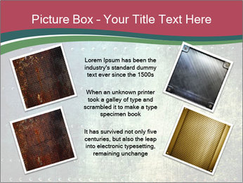 Rusty metal texture with rivets PowerPoint Template - Slide 24