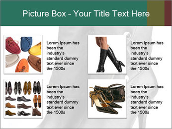 Pair of black female boots with red lining PowerPoint Templates - Slide 14