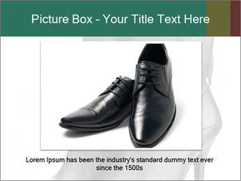 Pair of black female boots with red lining PowerPoint Templates - Slide 15
