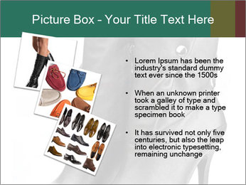 Pair of black female boots with red lining PowerPoint Templates - Slide 17