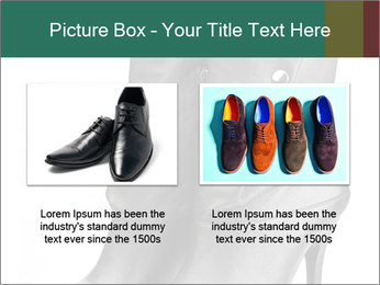 Pair of black female boots with red lining PowerPoint Templates - Slide 18
