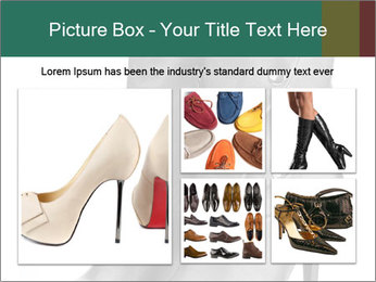 Pair of black female boots with red lining PowerPoint Templates - Slide 19