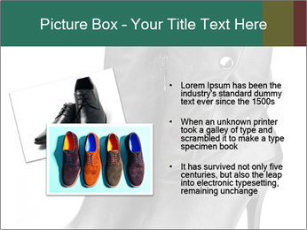 Pair of black female boots with red lining PowerPoint Templates - Slide 20