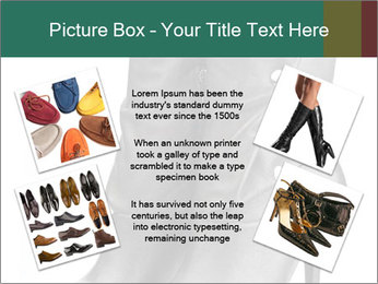 Pair of black female boots with red lining PowerPoint Templates - Slide 24