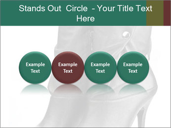 Pair of black female boots with red lining PowerPoint Templates - Slide 76