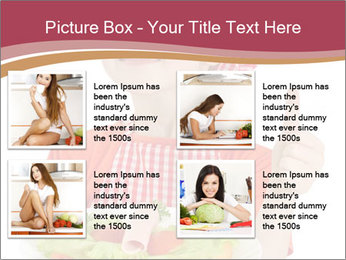 Little girl holding plate with ham PowerPoint Templates - Slide 14