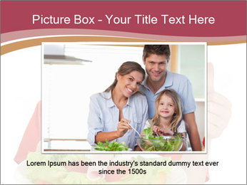 Little girl holding plate with ham PowerPoint Templates - Slide 15