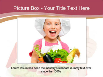 Little girl holding plate with ham PowerPoint Templates - Slide 16
