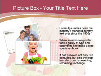 Little girl holding plate with ham PowerPoint Templates - Slide 20