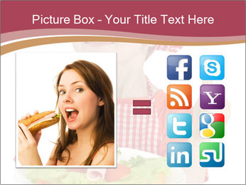 Little girl holding plate with ham PowerPoint Templates - Slide 21