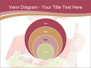 Little girl holding plate with ham PowerPoint Templates - Slide 34