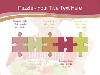 Little girl holding plate with ham PowerPoint Templates - Slide 41
