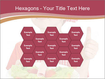 Little girl holding plate with ham PowerPoint Templates - Slide 44