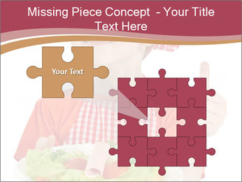 Little girl holding plate with ham PowerPoint Templates - Slide 45