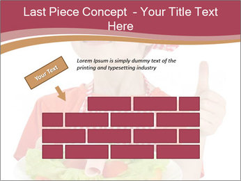 Little girl holding plate with ham PowerPoint Templates - Slide 46