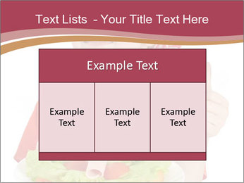 Little girl holding plate with ham PowerPoint Templates - Slide 59