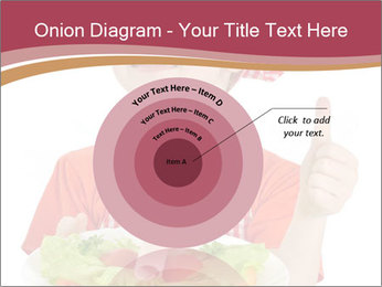 Little girl holding plate with ham PowerPoint Templates - Slide 61