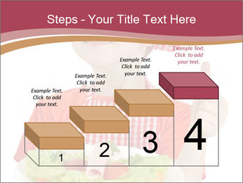 Little girl holding plate with ham PowerPoint Templates - Slide 64